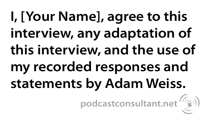 The Release Form | Adam Weiss: Podcast Consultant